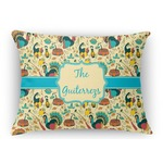 Old Fashioned Thanksgiving Rectangular Throw Pillow Case (Personalized)
