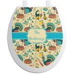 Old Fashioned Thanksgiving Toilet Seat Decal (Personalized)