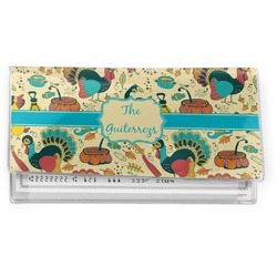 Old Fashioned Thanksgiving Vinyl Check Book Cover (Personalized)
