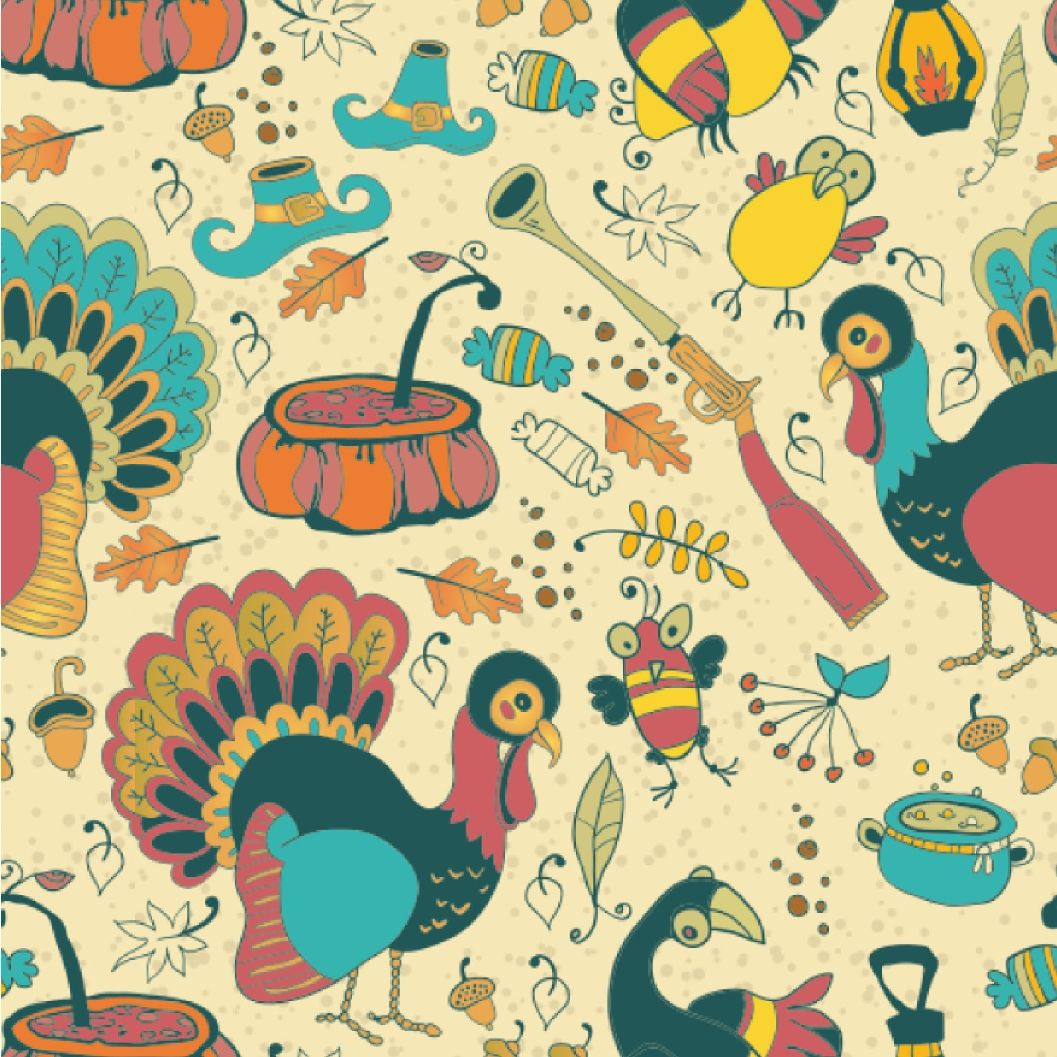 Old Fashioned Thanksgiving Wallpaper Surface Covering