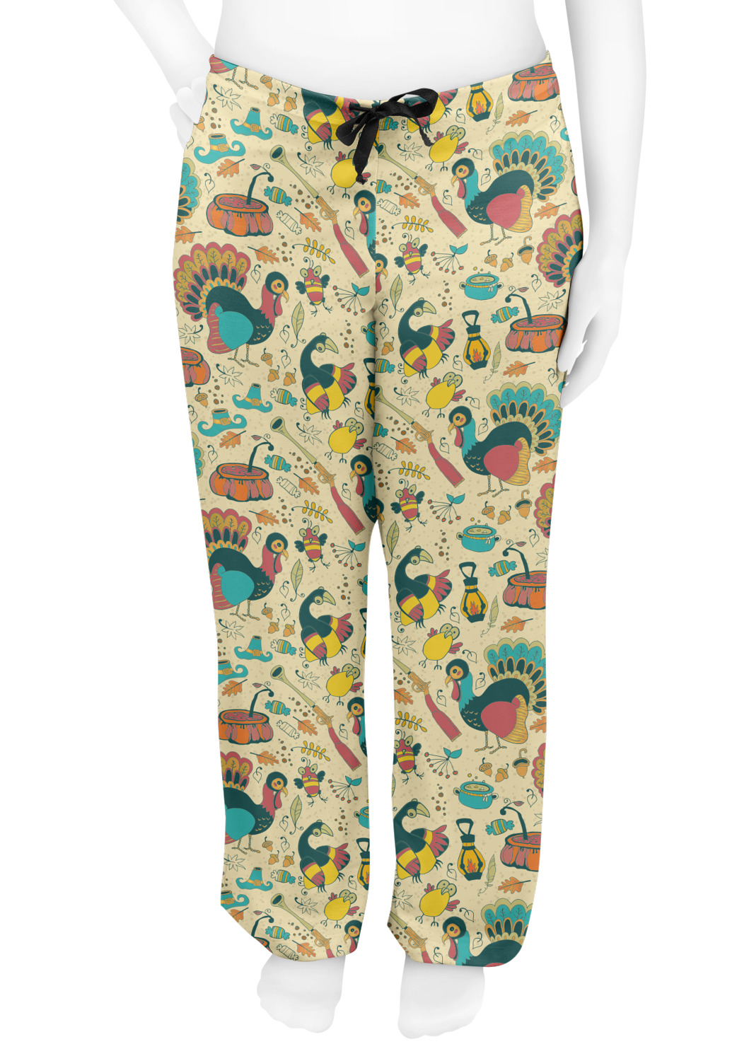 Traditional Thanksgiving Womens Pajama Pants Personalized