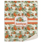 Pumpkins Sherpa Throw Blanket (Personalized)