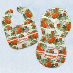 Pumpkins Baby Bib & Burp Set w/ Name or Text