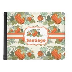 Pumpkins Genuine Leather Men's Bi-fold Wallet (Personalized)