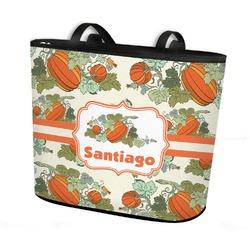 Pumpkins Bucket Tote w/ Genuine Leather Trim (Personalized)