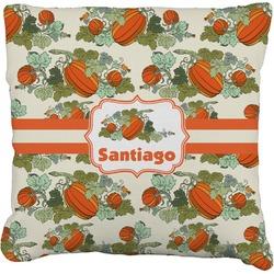 "Pumpkins Faux-Linen Throw Pillow 26"" (Personalized)"