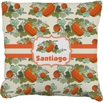 Pumpkins Faux-Linen Throw Pillow (Personalized)
