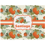 Pumpkins Woven Fabric Placemat - Twill w/ Name or Text