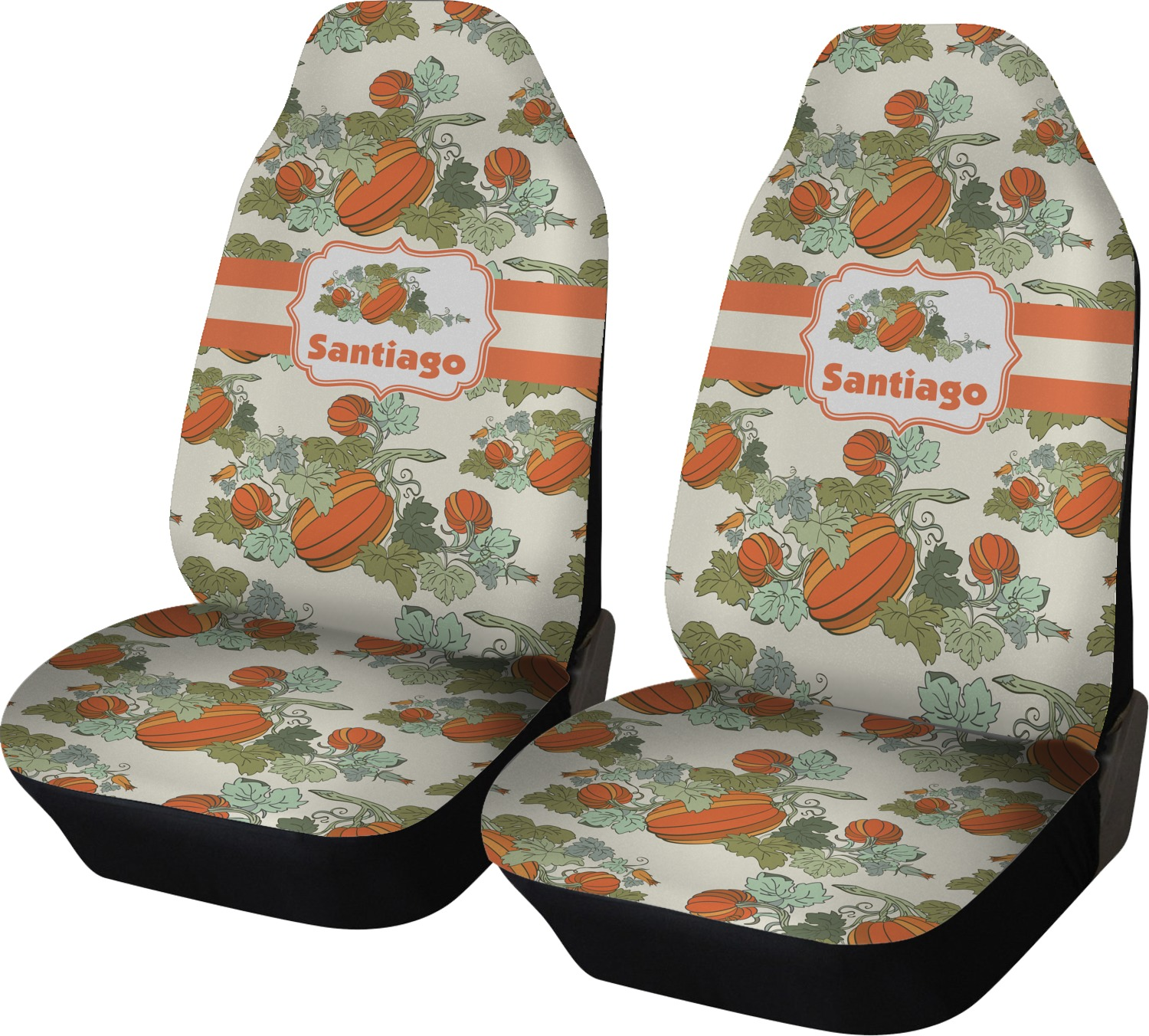 Awesome Pumpkins Car Seat Covers Set Of Two Personalized Lamtechconsult Wood Chair Design Ideas Lamtechconsultcom