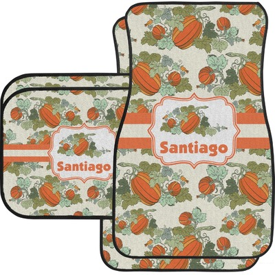 Pumpkins Car Floor Mats Set - 2 Front & 2 Back (Personalized)