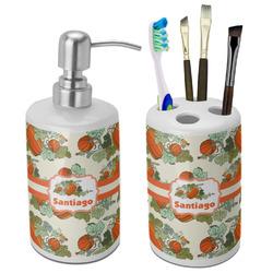 Pumpkins Bathroom Accessories Set (Ceramic) (Personalized)
