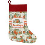 Pumpkins Holiday Stocking w/ Name or Text