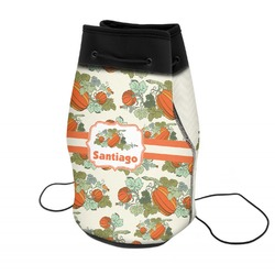 Pumpkins Neoprene Drawstring Backpack (Personalized)