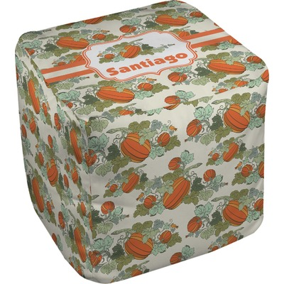 Pumpkins Cube Pouf Ottoman (Personalized)