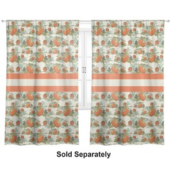 "Pumpkins Curtains - 56""x80"" Panels - Lined (2 Panels Per Set) (Personalized)"