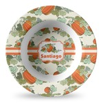 Pumpkins Plastic Bowl - Microwave Safe - Composite Polymer (Personalized)