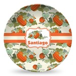 Pumpkins Microwave Safe Plastic Plate - Composite Polymer (Personalized)