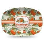 Pumpkins Plastic Platter - Microwave & Oven Safe Composite Polymer (Personalized)