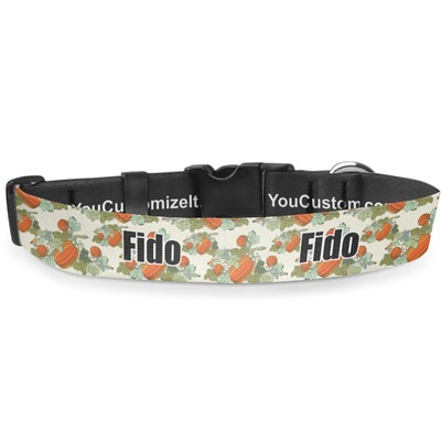 Pumpkins Deluxe Dog Collar (Personalized)
