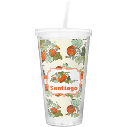 Pumpkins Double Wall Tumbler with Straw (Personalized)
