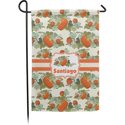 Pumpkins Single Sided Garden Flag With Pole (Personalized)