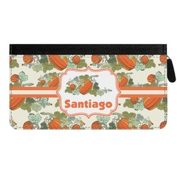 Pumpkins Genuine Leather Ladies Zippered Wallet (Personalized)