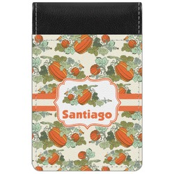 Pumpkins Genuine Leather Small Memo Pad (Personalized)