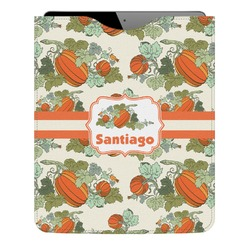 Pumpkins Genuine Leather iPad Sleeve (Personalized)