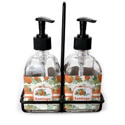 Pumpkins Soap & Lotion Dispenser Set (Glass) (Personalized)