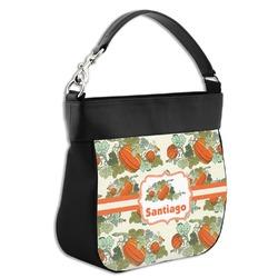 Pumpkins Hobo Purse w/ Genuine Leather Trim (Personalized)
