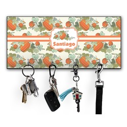 Pumpkins Key Hanger w/ 4 Hooks w/ Graphics and Text
