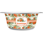Pumpkins Stainless Steel Dog Bowl (Personalized)