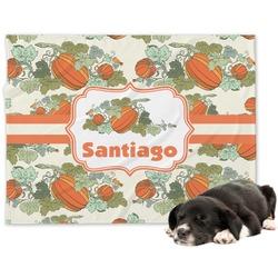 Pumpkins Minky Dog Blanket - Large  (Personalized)