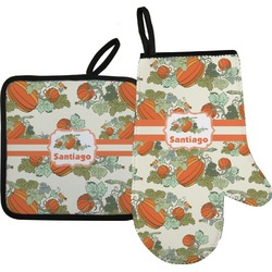 Pumpkins Oven Mitt & Pot Holder (Personalized)
