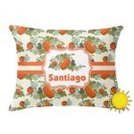 Pumpkins Outdoor Throw Pillow (Rectangular) (Personalized)