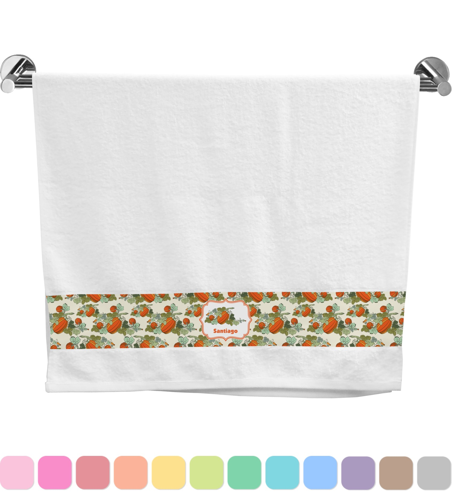 Pumpkins Bath Towel Personalized Youcustomizeit