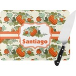 Pumpkins Rectangular Glass Cutting Board (Personalized)