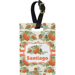 Pumpkins Rectangular Luggage Tag (Personalized)