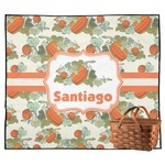 Pumpkins Outdoor Picnic Blanket (Personalized)