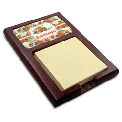 Pumpkins Red Mahogany Sticky Note Holder (Personalized)
