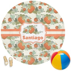 Pumpkins Round Beach Towel (Personalized)