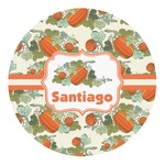 Pumpkins Round Decal (Personalized)