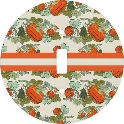 Pumpkins Round Light Switch Cover (Personalized)