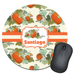 Pumpkins Round Mouse Pad (Personalized)