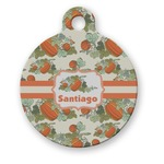 Pumpkins Round Pet Tag (Personalized)