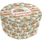 Pumpkins Round Pouf Ottoman (Personalized)