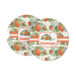 Pumpkins Sandstone Car Coasters (Personalized)