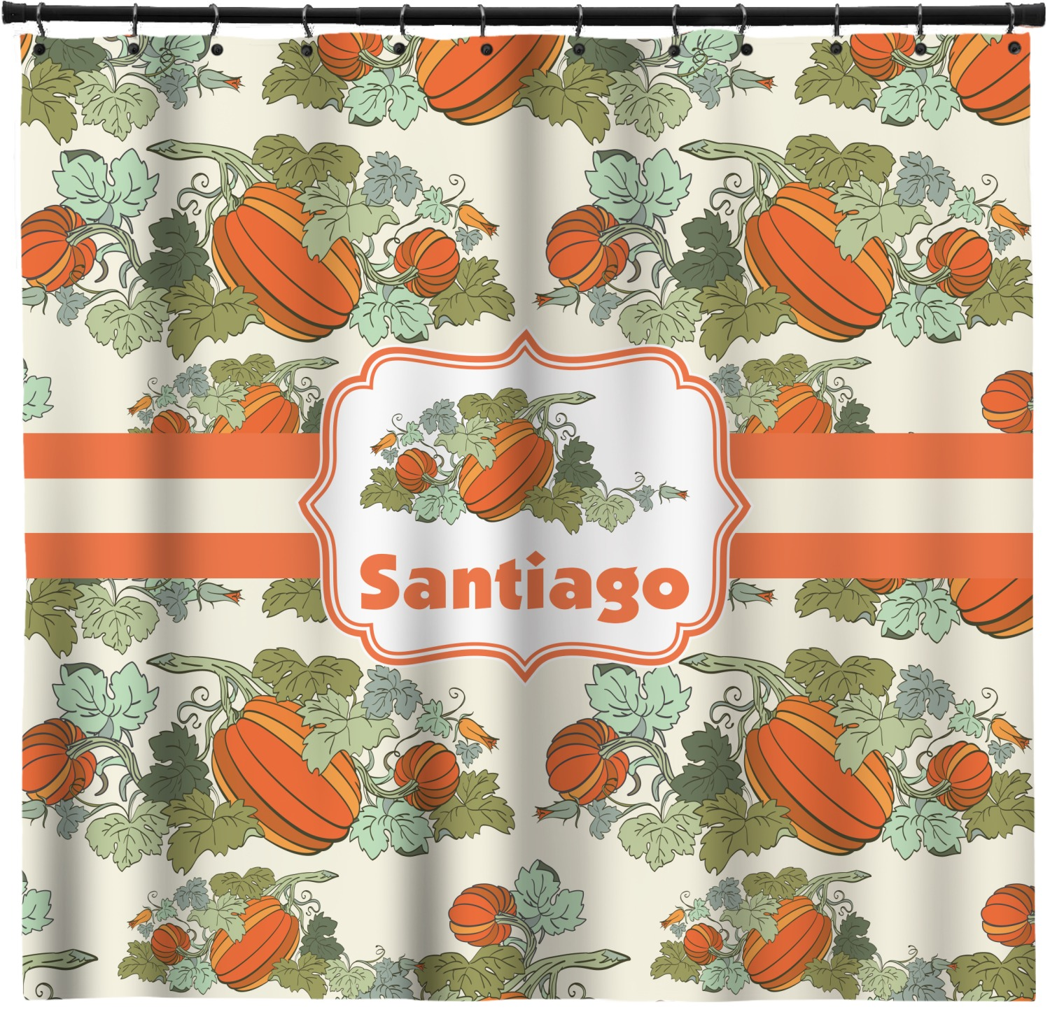 Pumpkins Shower Curtain Personalized Youcustomizeit