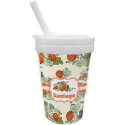 Pumpkins Sippy Cup with Straw (Personalized)