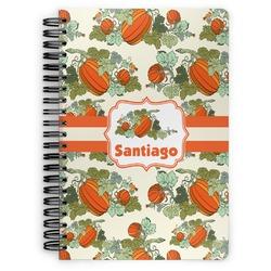 Pumpkins Spiral Notebook (Personalized)
